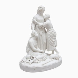 19th-Century Parian Figures, Naomi and Her Daughters in Law