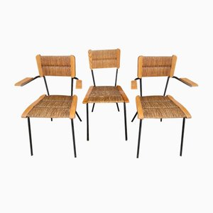 Vintage Armchairs and Chair in the Style of Colette Gueden, 1950s, Set of 3