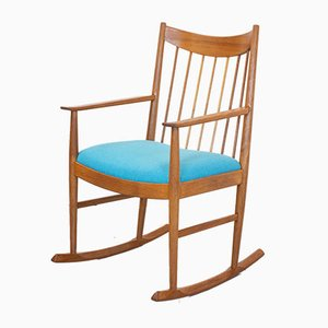 Rocking Chair en Teck par Arne Vodder pour Sibast, Danemark, 1960s