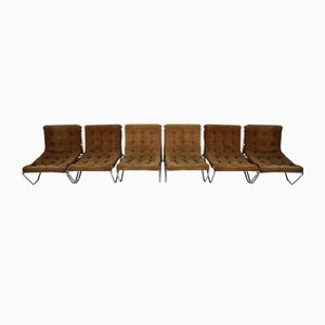 Vintage Chrome Armchairs, 1970s, Set of 6