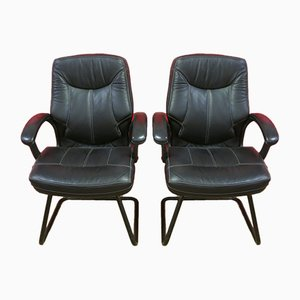 Leather Office Chairs, Set of 2