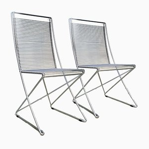 German Kreuzschwinger Coated Steel Wire Chairs by Till Behrens for Schlubach, 1983, Set of 2