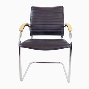 Leather S 74 Chair by Josef Gorcica for Thonet