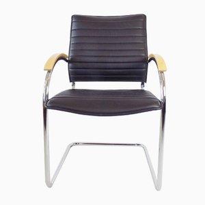 Leder S 74 Stuhl von Josef Gorcica für Thonet