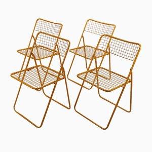 Sillas plegables Ted Net de Niels Gammelgaard para Ikea, años 80. Juego de 4
