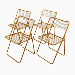 Ted Net Folding Chairs by Niels Gammelgaard for Ikea, 1980s, Set of 4