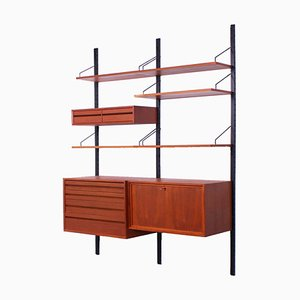 Modular Royal Wall System by Poul Cadovius, 1960s, Set of 11