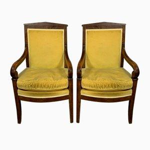 Empire Stühle aus Mahagoni, 2er Set