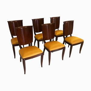 Mid-Century Italian Yellow Dining Chairs by Vittorio Dassi, 1950s, Set of 6