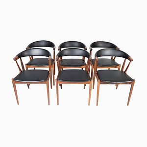 Model BA113 Rosewood Dining Room Chairs by Johannes Andersen for CFC Silkeborg, Set of 6