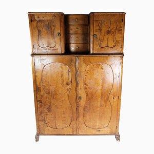 Tall Birch Wood Cabinet, 1860s