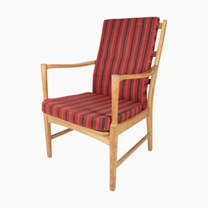 Schwedischer Eichenholz Armlehnstuhl von Bjärnums Furniture, 1960er