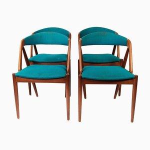 Modell 31 Esszimmerstühle von Kai Kristiansen für Andersen Møbelfabrik, 1956, 4er Set