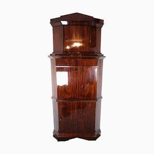 Tall Mahogany Corner Secretaire, 1840s
