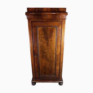 Late Dark Polished Mahogany Empire Tall Cabinet