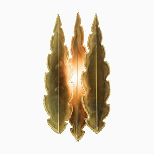 Wandlampe in Form von vergoldeten Blättern von Holm-Sørensen und Pedersen