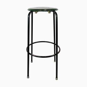 Tall Dot Dark Green Stool by Arne Jacobsen and Fritz Hansen, 1950s