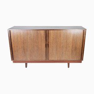 Danish Rosewood Low Sideboard with Sliding Doors, 1960s