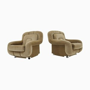 Lounge Armchairs, Italy, 1970s, Set of 2