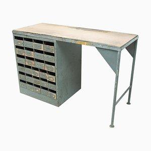 Industrial Iron Writing Desk, 1950s, Czechoslovakia