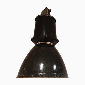 Large Industrial Enamel Lamp, 1950s