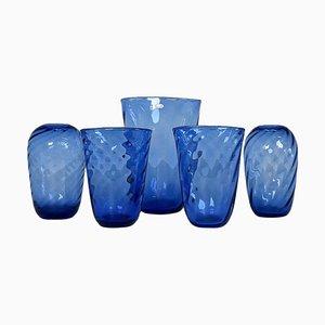 Art Deco Glass Vases from Reijmyre, Sweden, 1940s, Set of 5