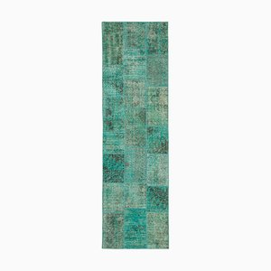 Turquoise Patchwork Runner Rug