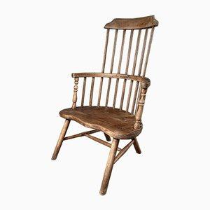 Antique Elm Stick Back Provincial Windsor Fireside Chair
