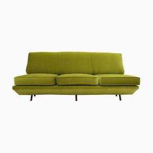 Sleep-O-Matic Green Velvet Sofa by Marco Zanuso, Italy, 1950s