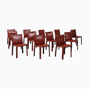 412 CAB Dining Chairs by Mario Bellini for Cassina, 1978, Set of 12