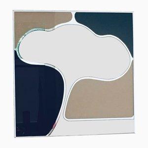 Art Illustrated Mirror from Deknudt Belgium, 1970s