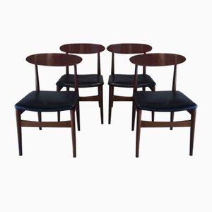 Esszimmerstühle von Jentique, 1950er, 4er Set