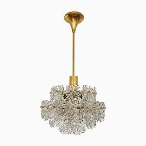 Golden Crystal Chandelier, 1960s
