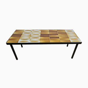 Ceramic Navette Coffee Table by Roger Capron, 1960s
