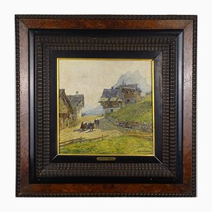Angelo Pavan, Mountain View, Oil on Tablet, 1920s