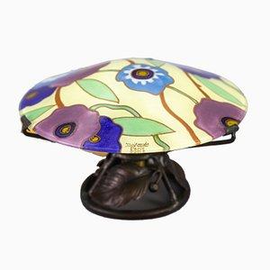 Art Deco Enameled Glass Table Lamp by Maxonade Verrier Dart, Paris