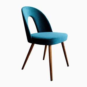 Czechoslovak Blue Velvet Dining Chairs by Antonín Šuman for Tatra Nábytok, 1960s, Set of 4