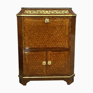Louis XVI Pagoda Secretaire with Flap in Cubic Marquetry