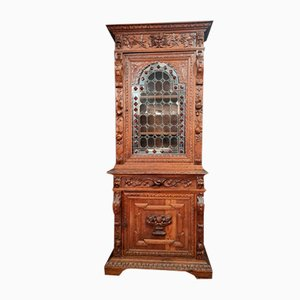 Renaissance Hunting Lodge Bookcase in Solid Oak