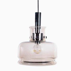 Danish Pendant Lamp in Smoked Glass from Vitrika, 1960s