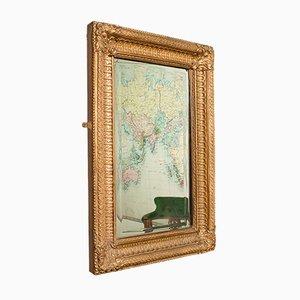 Specchio da parete vintage in metallo dorato, Regno Unito, anni '30