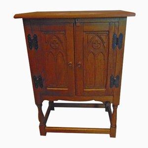 Mueble Art Déco vintage de madera, años 50