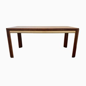 Art Deco Table in Rosewood and Parchment by Pietro Busnelli
