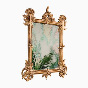 Small Antique Italian Giltwood Vanity Mirror, 1890s
