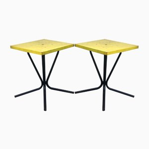 French Outdoor or Indoor Coffee Tables in Iron, Set of 2