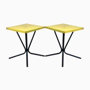 Tables Basses d'Extérieur ou d'Intérieur en Fer, France, Set de 2
