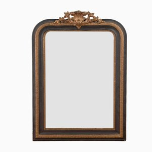French Louis Philippe Ebonised and Gilt Mirror