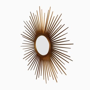 Vintage Curved Sun Mirror from Chaty Vallauris, 1960s