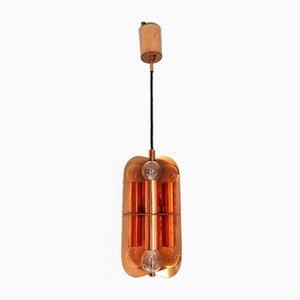 Mid-Century Ceiling Lamp in Copper