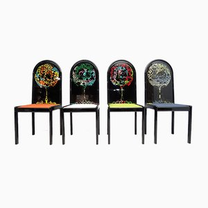 Limited Edition The Four Directions Chairs by Björn Wiinblad for Rosenthal, Set of 4